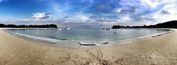 Perfect skies at Lazarus Island, circa November 2012.